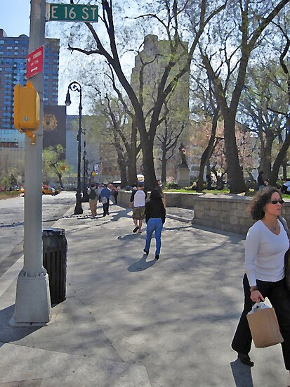 East 16th Street & Union Square by Danny Drexler