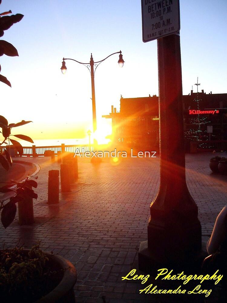 Sunset at Redondo Beach Pier  by Alexandra Lenz