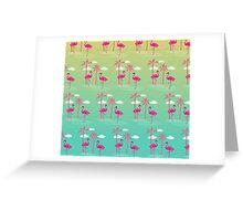 Flamingo Pattern Greeting Card