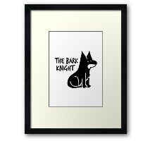 The Bark Knight Framed Print