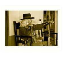 Old Time Cowboy Art Print