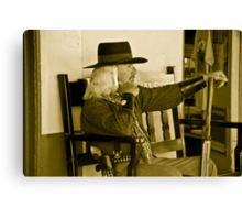Old Time Cowboy Canvas Print