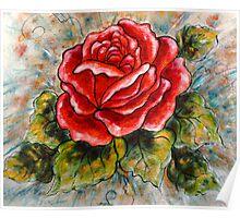 A Summer Rose Poster