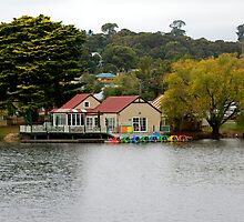Daylesford Lake Boathouse by Cecily McCarthy