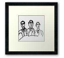 3 guys Framed Print
