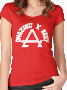 Amazing X Navy Women's Fitted Scoop T-Shirt