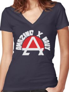 Amazing X Navy Women's Fitted V-Neck T-Shirt