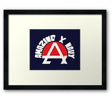 Amazing X Navy Framed Print
