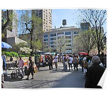 Union Square Park with Whole Food in background Poster