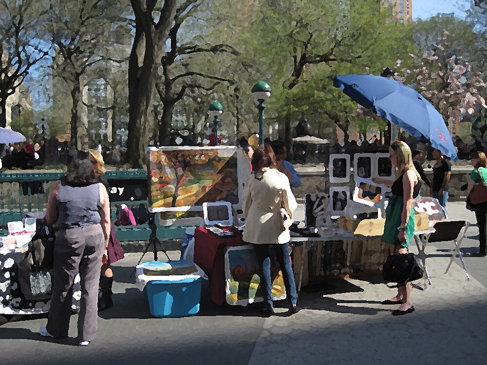 Art for sale in Union Square by Danny Drexler