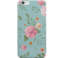 Painted Flowers Pattern iPhone Case/Skin