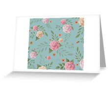Painted Flowers Pattern Greeting Card