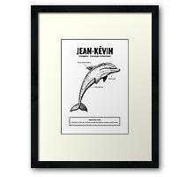 A dolphin named Jean-Kévin Framed Print