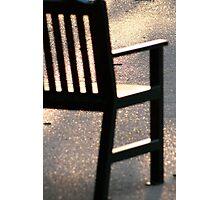 sun lit chair Photographic Print