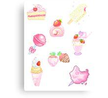 Kawaii/Pixel Canvas Print