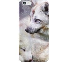 White Fox Moods iPhone Case/Skin