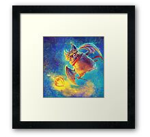Ikou the Cute Bat Framed Print