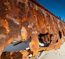 The Wreck of the Maheno on Fraser Island Queensland by Janette Rodgers