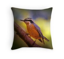 Red Breasted Nuthatch 1 Throw Pillow