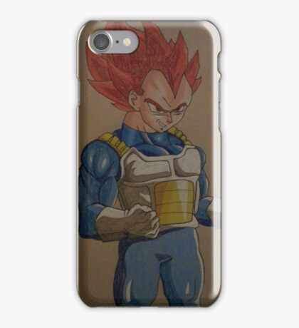 Vegeta ssj god iPhone Case/Skin