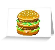 Pixel Cheeseburger Greeting Card