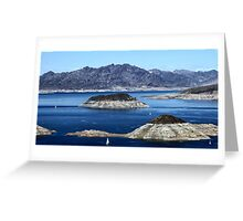 Lake Mead Sailing Greeting Card