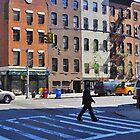 Crossing the street in Gramercy by Danny Drexler