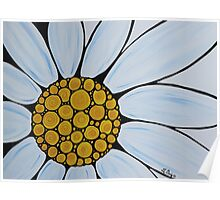 Big White Daisy Poster