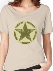 Olive Kaki Vintage American Star Women's Relaxed Fit T-Shirt