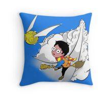 Golden Harry Throw Pillow