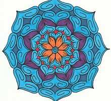 Mandala Drawing #11 Original Design by TAM by Michelle Clifton