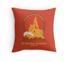 Big Thunder Mountain Railroad Throw Pillow