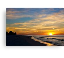 Winter Morning on the Gulf Canvas Print