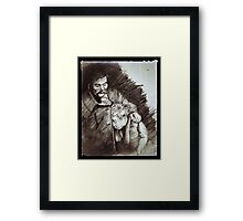 Father and Son Resting Framed Print