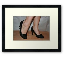 Office feet Framed Print