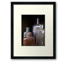 Bottled History Framed Print