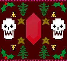 Video Game 8-Bit Holiday Sweater by Solsa