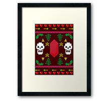 Video Game 8-Bit Holiday Sweater Framed Print