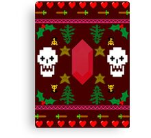 Video Game 8-Bit Holiday Sweater Canvas Print