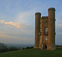 Broadway Tower at Dusk by RedHillDigital