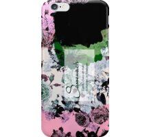 Sassanach floral design purple//green iPhone Case/Skin