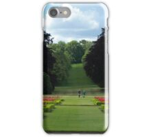 Going for a stroll in picturesque landscaped gardens  iPhone Case/Skin