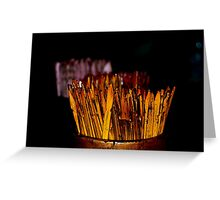 Fortune Sticks - Myanmar Greeting Card