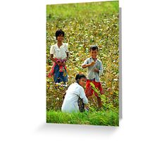 Working - Myanmar Greeting Card