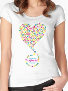 Byron Bay Captured - Love Heart Women's Fitted Scoop T-Shirt