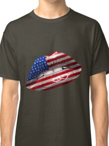 American Flag Graphic Design Classic T-Shirt