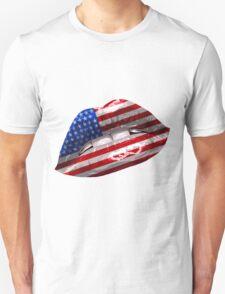 American Flag Graphic Design Unisex T-Shirt