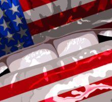 American Flag Graphic Design Sticker
