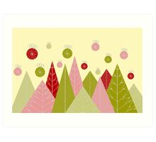 Ornaments and Trees Art Print