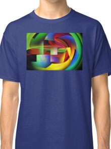 Computer Generated Abstract Fractal Flame Classic T-Shirt